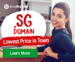 2 Years .SG Domain – As Low As SGD39/Yr